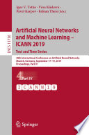 Artificial Neural Networks And Machine Learning Icann 2019 Text And Time Series Book PDF