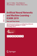 Artificial Neural Networks and Machine Learning     ICANN 2019  Text and Time Series