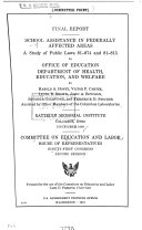 Summary of Legislative Action of the House Education and Labor Committee for the 91st Congress  1st Session