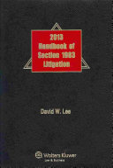Handbook of Section 1983 Litigation 2013