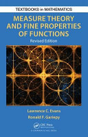 Measure Theory and Fine Properties of Functions  Revised Edition
