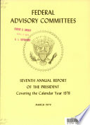 Federal Advisory Committees Annual Report Of The President Covering The Calendar Year
