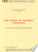 Fire design of concrete structures in accordance with CEB FIP model code 90