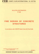 Fire design of concrete structures in accordance with CEB FIP model code 90 ebook