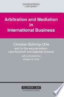 Arbitration and Mediation in International Business Book