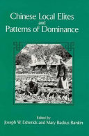 Chinese Local Elites and Patterns of Dominance