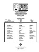 Forensic Science Review