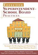 Effective Superintendent School Board Practices