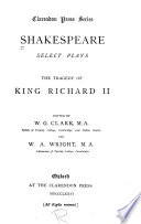 Select Plays  The tragedy of King Richard II Book PDF