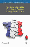 Pdf Regional Language Policies in France during World War II Telecharger