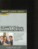 Vault Career Guide to Supply Chain Management