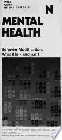 Behavior modification  what it is   and isn t