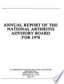 Annual Report Of The National Arthritis Advisory Board