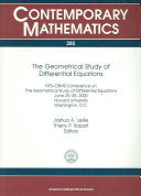 The Geometrical Study of Differential Equations