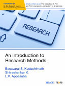 An Introduction to Research Methods Book