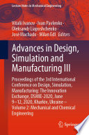 Advances in Design, Simulation and Manufacturing III
