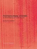 Pdf Postcolonial Studies
