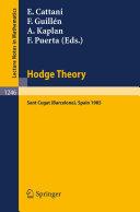 Hodge Theory [Pdf/ePub] eBook