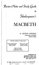 Review Notes And Study Guide To Shakespeare S Macbeth