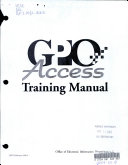 Gpo Access Training Manual