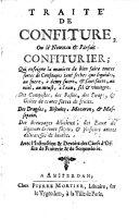 Traité de confiture, ou le nouveau [et] parfait confiturier