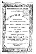 A Catalogue of Superior Second hand Books  Ancient and Modern  Comprising Works in Most Branches of Literature  Offered     by Henry Sotheran   Co