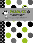 Peanuts 2019 2020 Monthly weekly Planning Calendar