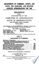 Departments of Commerce  Justice  and State  the Judiciary  and Related Agencies Appropriations for 1995 Book