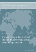 Current Issues in International Human Resource Management and Strategy Research