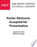 AACC 2015 Abstracts eBook Book