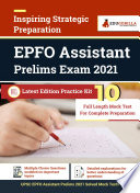UPSC EPFO Assistant Prelim Exam 2021   10 Mock Test