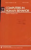 Computers in Human Behavior Volume 7  Number 1 2  1991 Book PDF