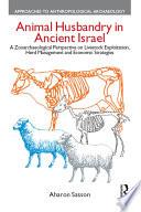 Animal Husbandry in Ancient Israel Book