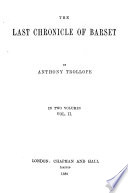 The Chronicles of Barsetshire  The last chronicle of Barset