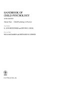 Handbook of Child Psychology  Child Psychology in Practice Book