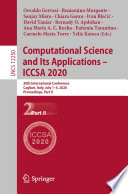 Computational Science And Its Applications Iccsa 2020 Book PDF