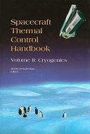 Spacecraft Thermal Control Handbook Cryogenics Book PDF