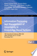 Information Processing and Management of Uncertainty in Knowledge Based Systems