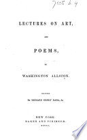 Lectures on Art  and Poems     Edited by Richard Henry Dana  Jr