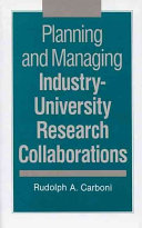 Planning and Managing Industry university Research Collaborations Book PDF