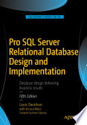 Pro SQL Server Relational Database Design and Implementation Book