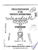 Proceedings Of The 30th International Wire And Cable Symposium