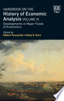 Handbook On The History Of Economic Analysis Volume Iii