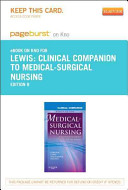 Clinical Companion to Medical Surgical Nursing Pageburst on Kno Retail Access Code