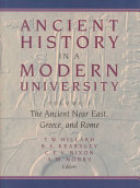 Ancient History in a Modern University  The ancient Near East  Greece  and Rome