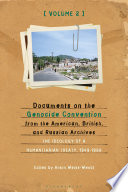 Documents on the Genocide Convention from the American  British  and Russian Archives
