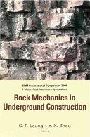 Rock Mechanics in Underground Construction [Pdf/ePub] eBook