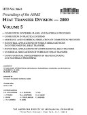 Proceedings Of The Asme Heat Transfer Division 2000