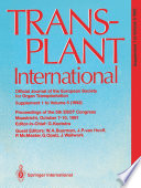 Transplant International Official Journal Of The European Society For Organ Transplantation Book PDF