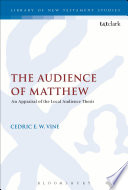 The Audience Of Matthew